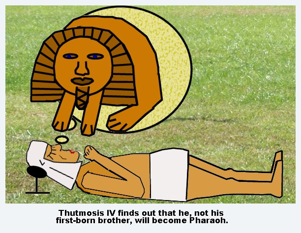Tuthmosis IV dreaming of the Sphinx